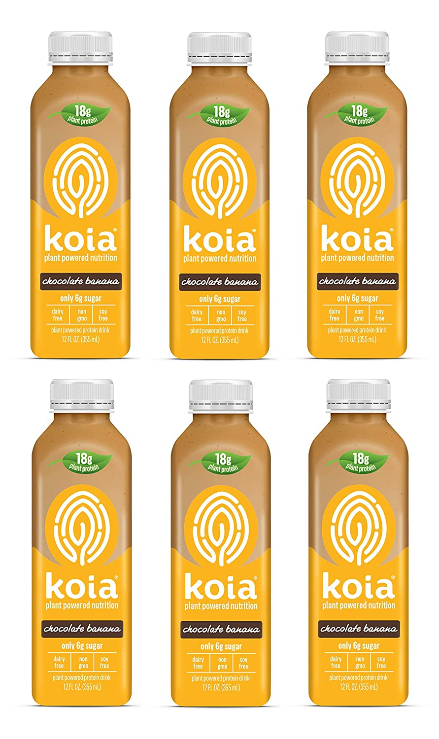 Koia Chocolate Banana Plant Powered oz Ranking integrated 1st place 12 Don't miss the campaign 6 Nutrition Pack
