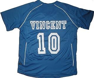 84f1af852c6bc PATOUTATIS - t-shirt - maillot foot personnalisé avec prénom et numéro de  votre choix