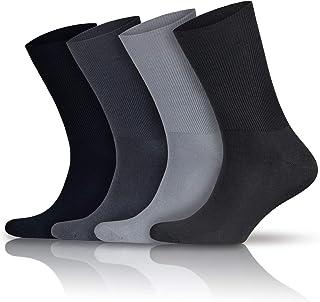 GoWith 4'lü Pamuklu Dikişsiz Lastiksiz Esnek Ayağı Sıkmayan Diyabetik Şeker Çorabı 3063