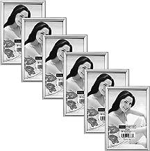 Malden International Designs Metro Silver Picture Frame, 4x6, Platinum, 6 Pack