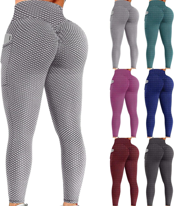 Leggings for Women Butt Lift Tummy Control,Women High Waist Workout Gym Contour Seamless Leggings Yoga Pants Tights