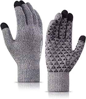 Winter Gloves for Men and Women - Knit Touch Screen...