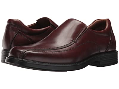Johnston & Murphy Waterproof XC4 Stanton Panel Toe Slip-On (Red Brown Waterproof Nubuck) Men