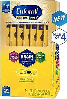 Enfamil 美赞臣 NeuroPro婴儿奶粉,补充大脑营养,每份独立包装,每袋17.6g,56袋装