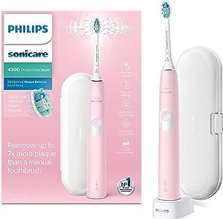 Philips 飞利浦 Sonicare ProtectiveClean 4300 电动牙刷 带旅行牙刷盒 -气质粉 (英国 两孔浴室插头) -HX6806/03