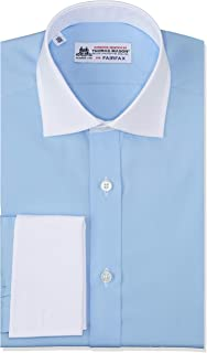 [フェアファクス] トーマスメイソンピンオックスセミワイドクレリックWカフスシャツ 8000CLW メンズ