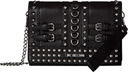 Wristlet with Belt Studs and Attachable Chain Strap