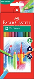 Faber-Castell PL115853 12-Pieces Triangular Colour Pencils
