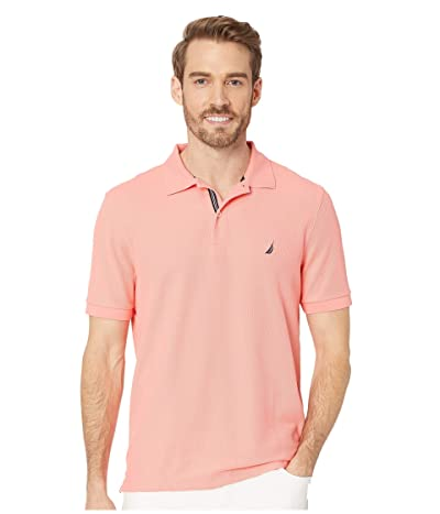 Nautica Short Sleeve Solid Performance Deck Polo (Pale Coral) Men