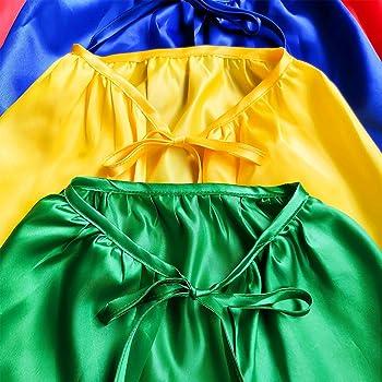 Superhero Capes and Masks, 24 Sets Bulk Pack DIY Super Hero Costume for Big Party, Dress Up Super Hero Capes Set with...