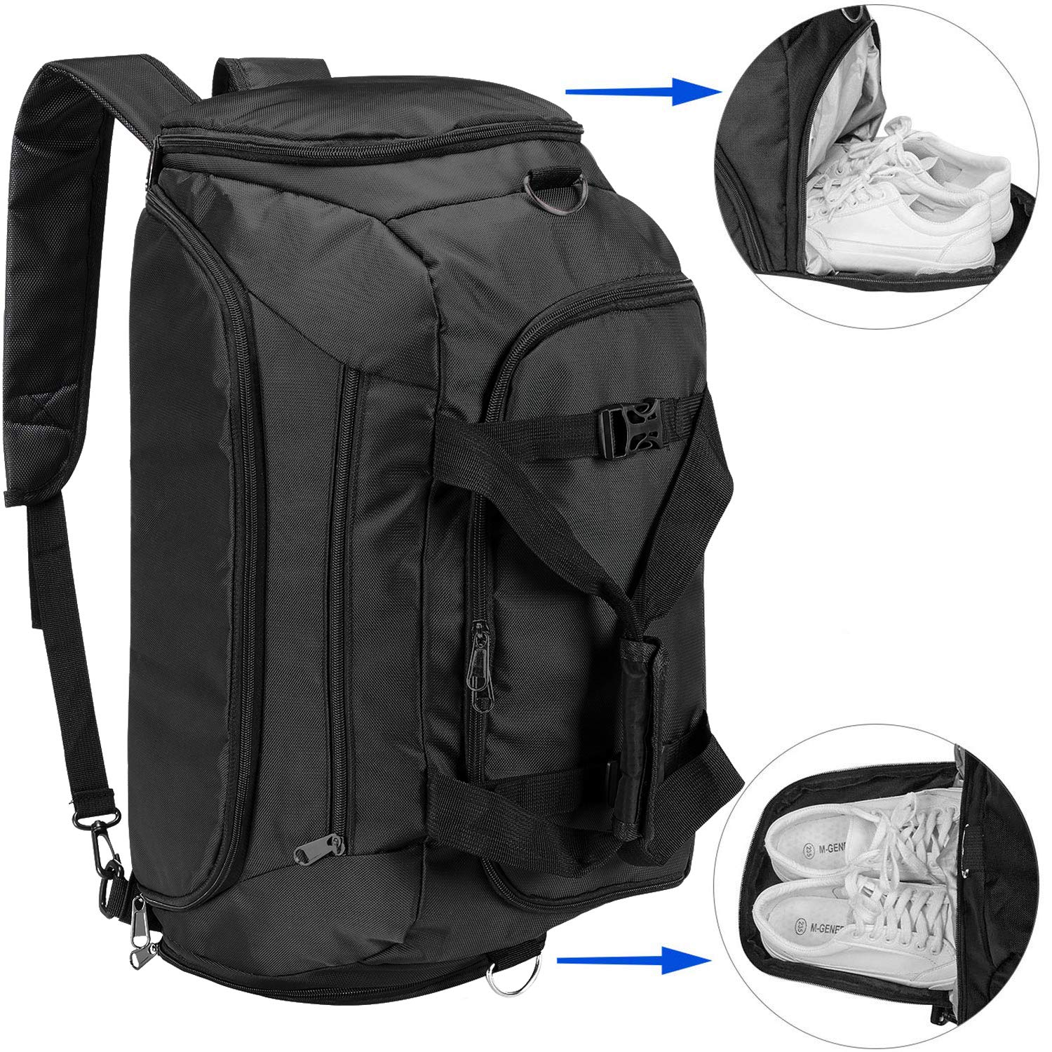 UOWGA Travel Duffle Backpack Compartment