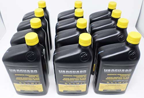 2021 Briggs & high quality Stratton 15W-50 discount (12 Quarts) Full Synthetic Vanguard Engine Oil sale