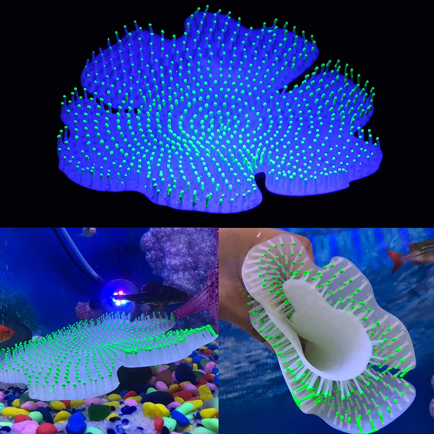 Silicone Fish Mail order cheap Excellent Tank Coral Decor decorations aquarium Glow glowing