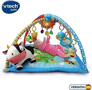 VTech Mantita de juego cantarín 2 en 1, manta y gimnasio de