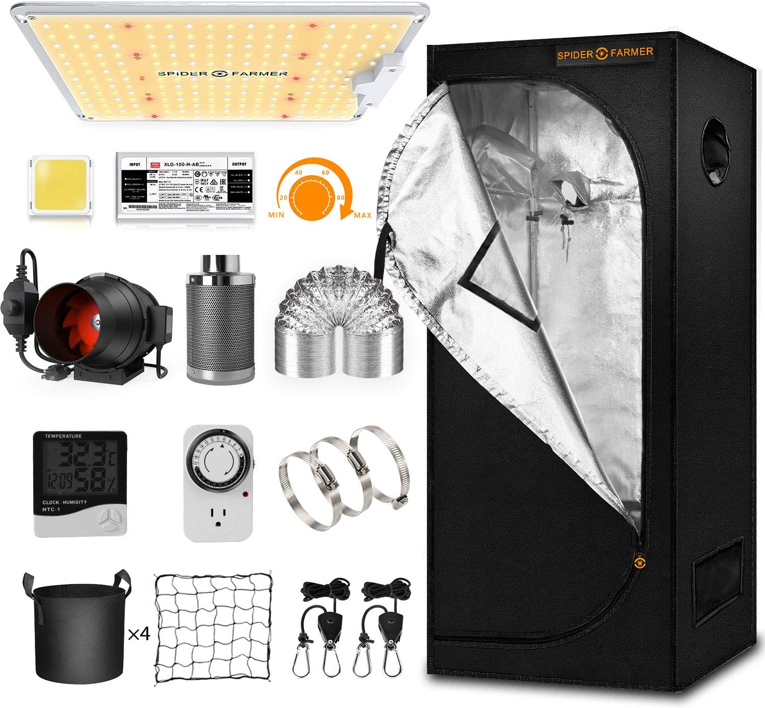 Spider Farmer Complete Grow Tent Kit