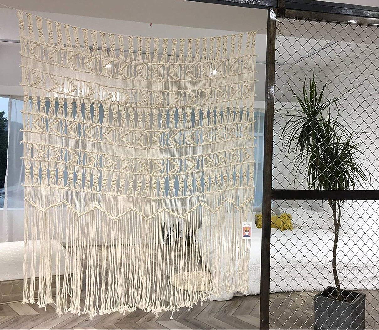 バイオリン子羊輝度Macrame Wall Hanging boho-inspiredタッチウィンドウカーテン、52?