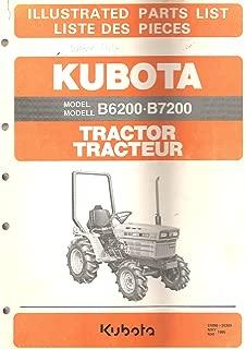 Kubota Tractor Model B6200 B7200 Illustrated Parts List