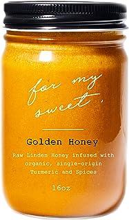 Sponsored Ad - For My Sweet - Golden Honey - Organic High Curcumin Turmeric Linden Honey - Anti-Inflammatory, Ayurvedic He...