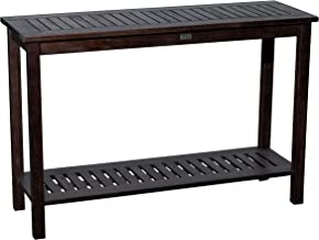 DTY Outdoor Living Longs Peak Eucalyptus Console Table, Outdoor Living Patio Furniture Collection - Espresso