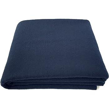 Amazon Com Ektos 100 Wool Blanket Navy Blue Warm