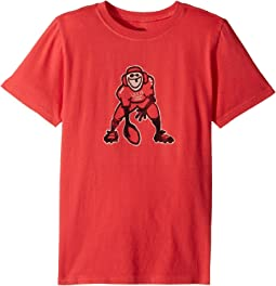 Life is Good Kids - Hut Hut Hike Football Crusher Tee (Little Kids/Big Kids)