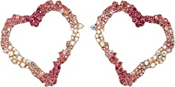 Betsey Johnson Open Gypsy Heart Earrings