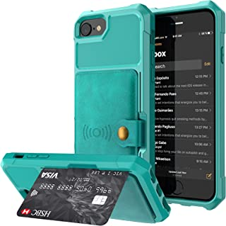 Case for iPhone 6s 6 7 8 Apple,Kickstand Protective Credit Card Case Holder Durable Cover Shell Girl Boy Men Women