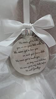 Miscarriage Memorial Ornament - Before We Said Goodbye - In Memory of Infant Loss