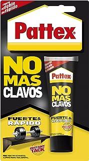 Pattex No Más Clavos Original adhesivo de montaje resistente pegamento extrafuerte para madera metal y más adhesivo bl...