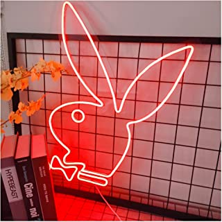 Ideal Custom Shop Bunny Neon Signs for Bedroom Kid Room Décor, Acrylic Wall Hanging Home Decoration Novelty LED Neon Sign ...