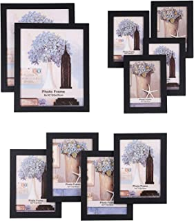 SONGMICS Picture Frames Set of 10 Frames with Glass Front - Two 8