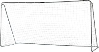 Franklin Sports Competition Soccer Goal - Steel Backyard Soccer Goal with All Weather Net - Includes 6 Ground Stakes - 12'x6' and 6'x4' Soccer Goal (Renewed)