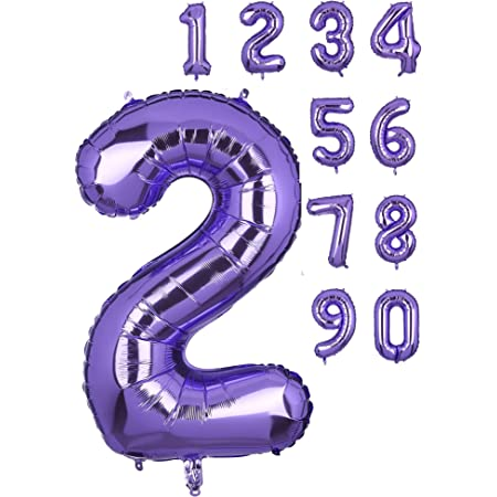 40 Inch Number 7 Balloons Big Purple Number Helium Foil Birthday Party Decorations Digit Balloons Mermaid Theme