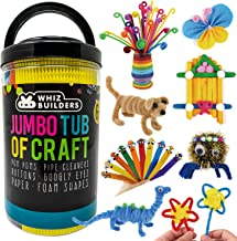 Arts and Crafts Supplies Craft Kits Set for Kids & Toddlers – Pipe Cleaners Pom poms Googly Eyes Beads – Kindergarten Pres...