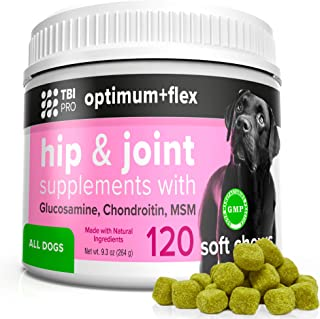 Formula Glucosamine for Dogs Hip and Joint Supplement - 120 Chews w/Chondroitin, Turmeric, MSM Vitamins - Hip Joint Supple...