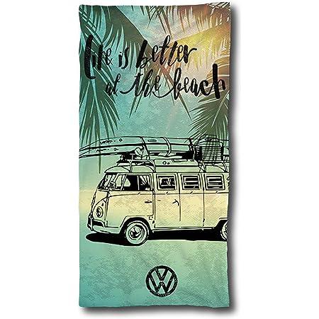 asciugamano da bagno in cotone regalo VW Bulli VW Bulli per campeggio spiaggia asciugamano da bagno 75 x 150 cm Volkswagen T1 T2 T3
