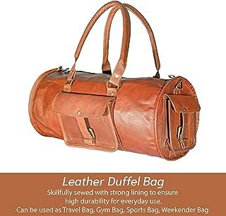 Handmade Leather Duffel Bag Overnight Travel Cabin Weekend Gym Shoulder Bag