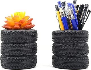 Tire Shape Pen Holder Pencil Holder Home Office Desk Organizer Accessories Pack of 2
