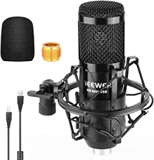 Neewer NW-8000 USB Microphone, 192kHz/24-Bit Supercardioid Condenser Mic with Shock Mount and Foam Windscreen for Singing,...