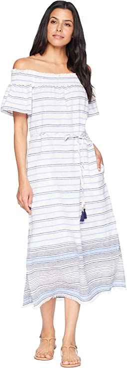 Linen Cotton Midi Dress Cover-Up
