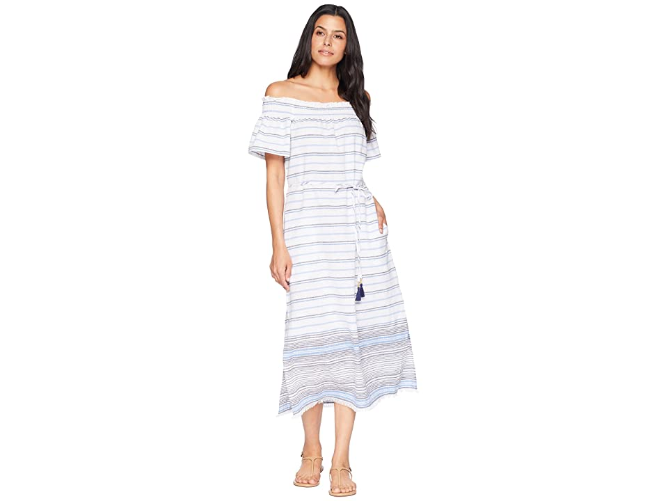 Tommy Bahama Linen Cotton Midi Dress Cover-Up (White) Women