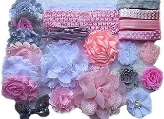 Bowtique Emilee Mini Headband Kit Makes over 15 Headbands, DIY Baby Headband Kit -