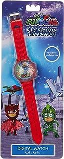 ساعة بي جي ماسك للاولاد بسوار من السيليكون ومينا رقمية مضيئة وامضة - SA8570 PJ Masks