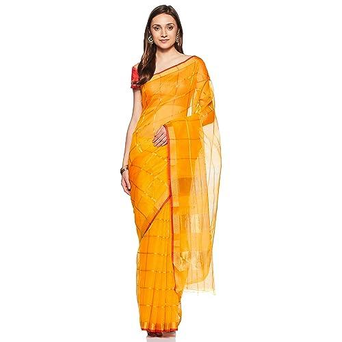 778a4af468 Craftsvilla Art Silk Saree with Blouse Piece (MKVSF19185290310_Yellow_Free  Size)