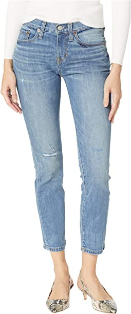 Joni Kick Boot Denim Pants in Lila Destroy