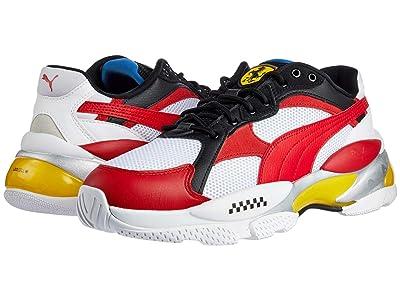 PUMA Scuderia Ferrari LQDCELL Epsilon (Puma White/Rosso Corsa/Vibrant Yellow) Men