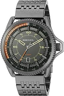 Diesel Rollcage Gunmetal Ion Plated Men's Grey Dial Stainless Steel Band Watch - DZ1719
