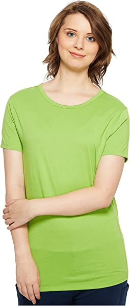 Short Sleeve Scoop Jersey Top - Reversible Front/Back