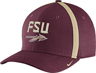 7e6fb4bad8220f Nike Men s Florida State Seminoles Garnet AeroBill Football Sideline  Coaches Classic99 Hat (OneSize)