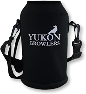 Yukon Growlers Growler Carrier for 64 oz Stainless Steel Growler (Bottle Not Included), Carrying Case, Black